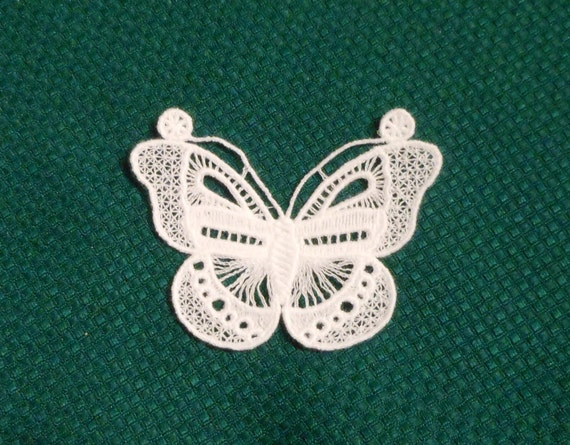 Lace Applique - Butterfly with Antennae - any color