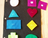 Shapes Felt  Quiet Book Page Ages 3 and up