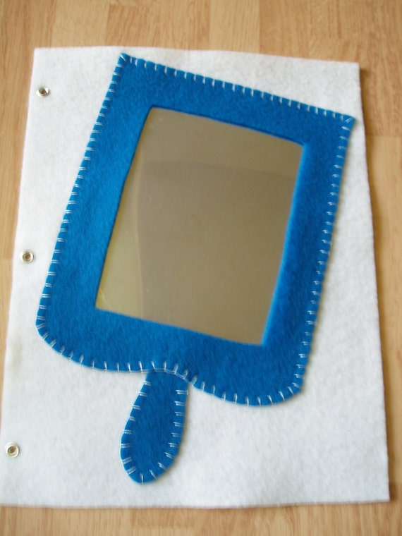 Mirror quiet book page blue for Mirror books