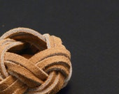 Boy Scout Woggle - Neckerchief Slide - Suede Leather