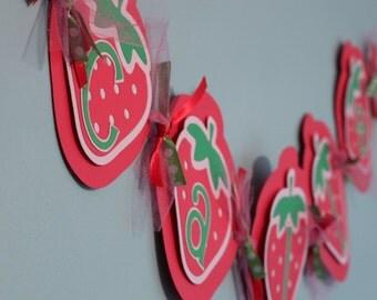Strawberry Shortcake Name Banner, Strawberry shortcake birthday banner, strawberry shortcake birthday, strawberry shortcake party