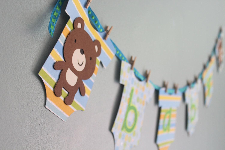 teddy bear baby shower banner boy teddy bear baby by calladoo