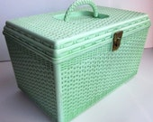 Vintage Wil-Hold Sewing Box in Pistachio Green