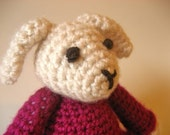 Amigurumi Lamb - Adorable Little Lamb in a Pink Dress - MADE TO ORDER