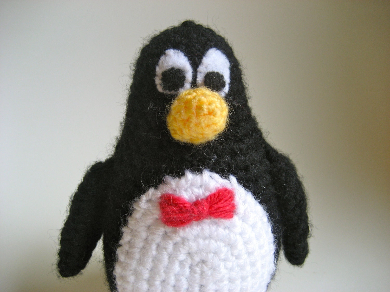 Toys Story Amigurumi : Amigurumi Wheezy the Penguin Handmade Crochet Toy Story Doll