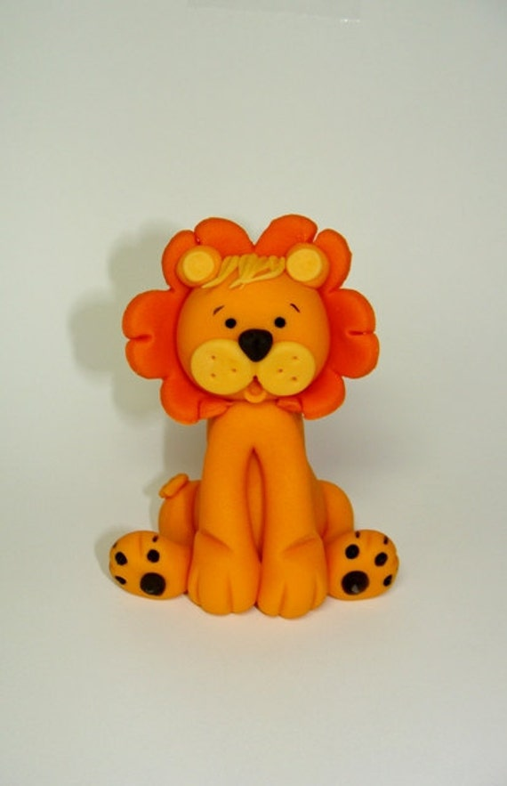Items Similar To Edible Fondant Cake Topper Lion On Etsy