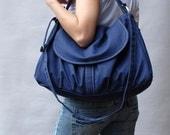 Sale SALE SALE 40% OFF - Navy Blue , Laptop Bag / Shoulder bag / Messenger Bag/Diaper Bag/ School Bag/ Women /Gift For Her