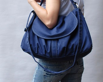 Sale SALE SALE 40% OFF - Navy Blue , Laptop Bag / Shoulder bag / Messenger Bag/Diaper Bag/ School Bag/ Women /Gift For Her