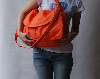 Christmas in July SALE, Diaper Bag, Fortuner, Orange, Messenger Bag, School Bag, Shoulder Bag,  Women, crossbody bag, Handbag,  40% OFF
