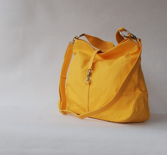 Back To School SALE - CoCo in Lemon Yellow (Water Resistant Insulated) Messenger / Shoulder / Tote Bag