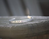 Hand Stamped Aluminum Bracelet