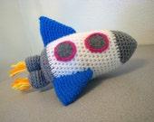 Rocket amigurumi crochet toy (ONE 8 inch) Sky Rockets in Flight