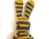 Bunny Rabbit (18 inch) amigurumi crochet toy - Bunny Stripes -