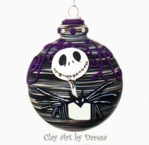 Jack Skellington Christmas Ornament: Items Similar To Jack Inspired Ornament On Etsy
