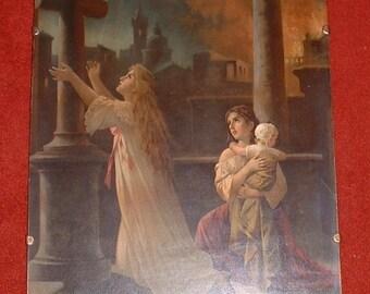 Victorian religious framed print