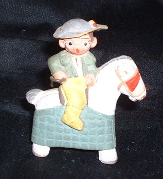vintage plaster man on horse