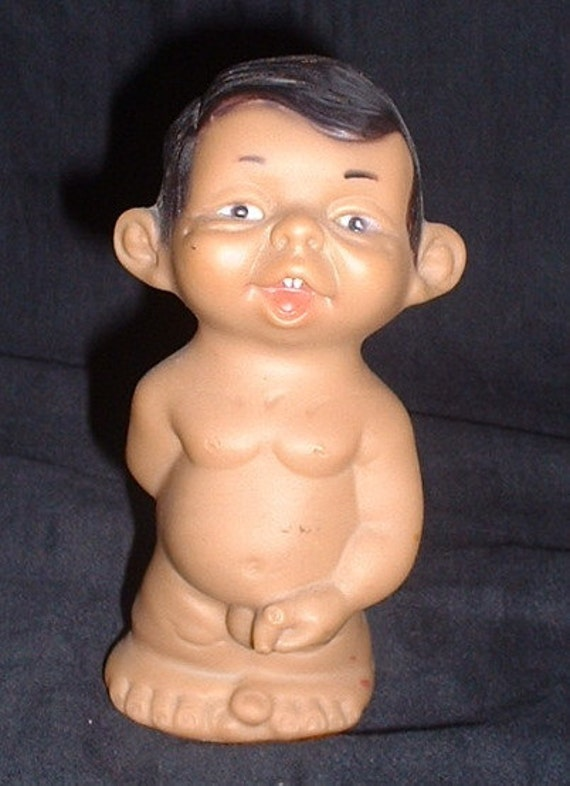 RESERVES  Joimy Rude plastic funky vintage doll boy