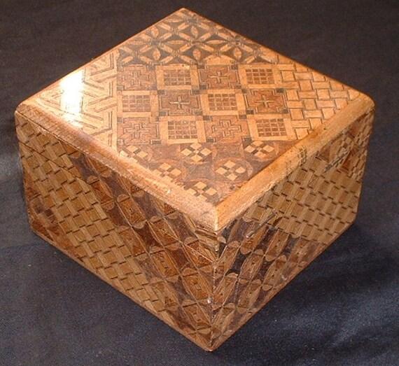 antique tumbradge ware inlaid box