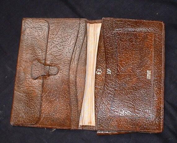 vintage brown leather mans wallet