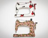Sewing machine brooch