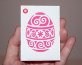 Cut Paper Easter Egg Number 1 OOAK ACEO