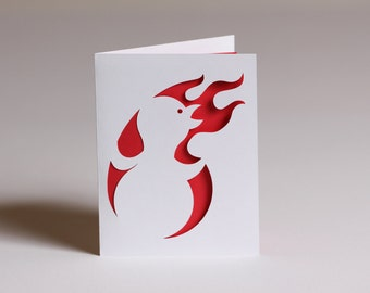 You're On Fire Card, Blank Cut Paper Greeting Card