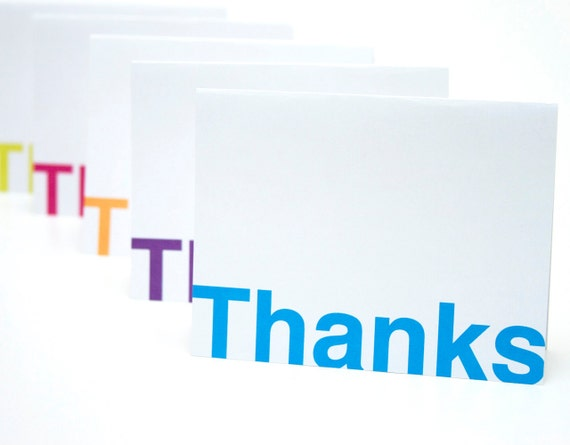 Thank You Note Card Set of 5