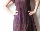 SALE from 24 dollars to 12 dollars-Choccolate Brown Light Cotton  Knitting Wool String  Short  Dress