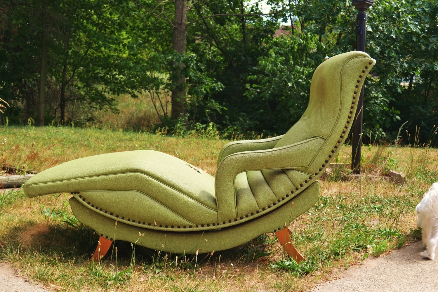 Green Contour Chair Lounge From 1956 Model 100 By Weirdsville