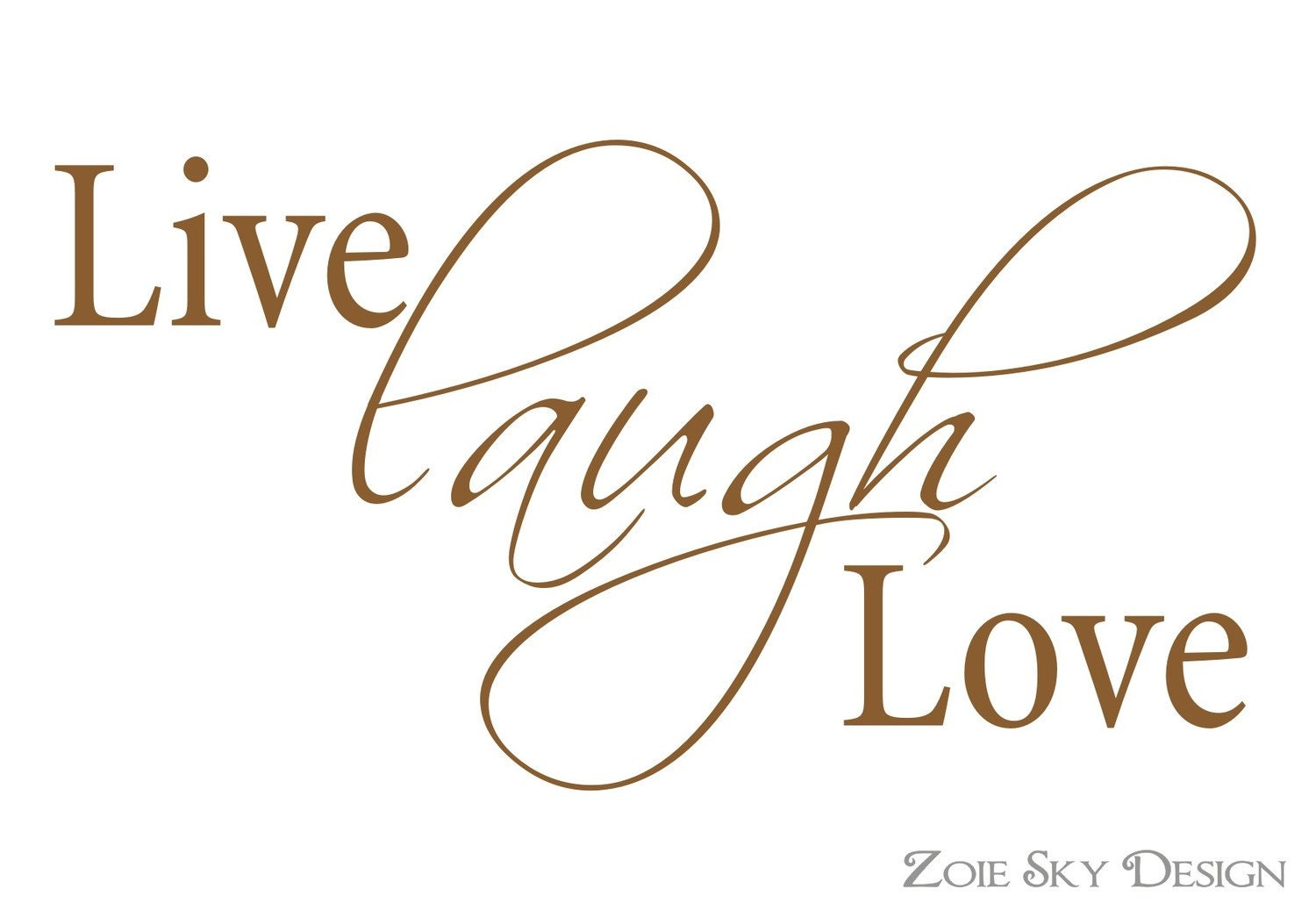Live Love Laugh Vinyl Wall Decal Art Decor By Zoieskydesign