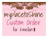 Custom order for kmellon1 Letter Hair Clips Holder Spell out her name and keep her organized