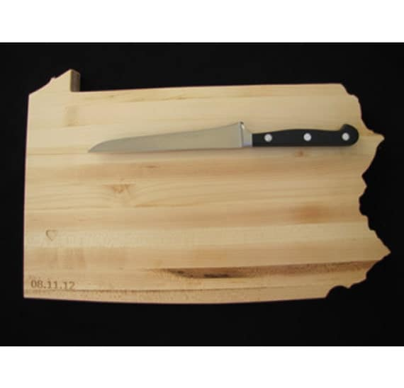 Pennsylvania Cutting Board Customized Cheese Boards by Woodbob.com
