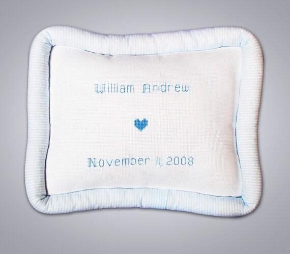 Custom Personalized Baby Boy Pillow