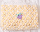 Yellow and White Shell Baby Afghan