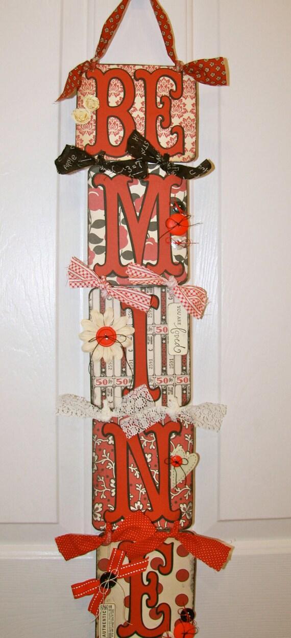 Valentine Swag Banner Garland/Be Mine/Valentines/Valentines Decor/Be Mine Oh so Vintage Boutique Valentines Decor/Sign/Banner/Garland/Swag