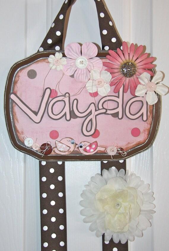 Bow Holder - Pink Chocolate Delight Custom Hair Bow Holder - Personalized Bow Holder - Boutique Bow Holder