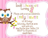 Sweet Little Hoot Owl Printable Birthday Invitations for Girls DIY Print Your Own