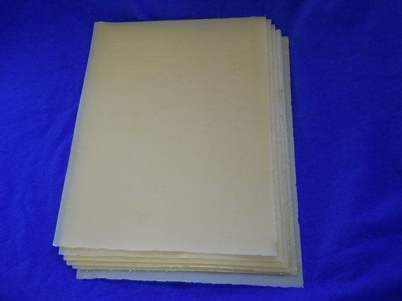 20 Organic Beeswax sheets for candle making