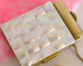 Vintage Compact Mother of Pearl All in One