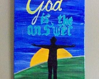 Christian Quote Art, 16x20 Canvas Art, Christian Wall Art, Christian Canvas Art, Christian Decor, Canvas Art, Inspirational Canvas Art