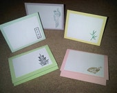 Set of 10 Asian Themed Note/Greeting Cards