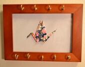 Origami Peace Crane Hanging Jewelry/Key Holder