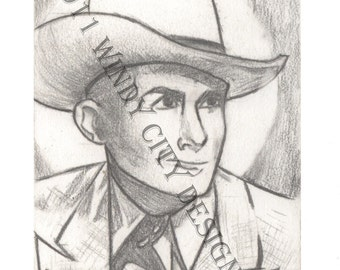 "Hank Williams Sr. ""Saint Williams"" - Print"