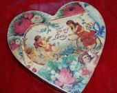 Large Valentine's day heart box, paper mache