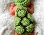 Crocheted Hatchling Turtle Cuddle Critter Cape Set - Photo Prop