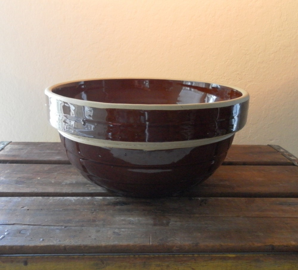 Amazon.com: Stoneware Pottery 3-Piece Large Nesting Mixing ...