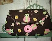Owlie Little Envelope Clutch Purse