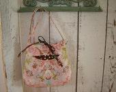 Pink & Brown Tidbits Cross Body Bag