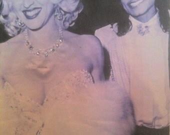 Clothing Womens T-Shirts Madonna and Michael Jackson- Hollywood Glam- Size Large Fashion Art  tees