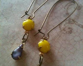 Earrings for Women, Swarovski Earrings, Crystal Earrings, Vintage Earrings, Unique Earrings, Jewelry